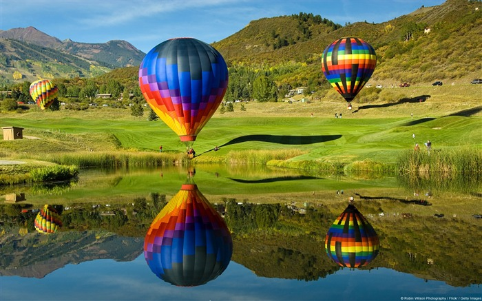 Aspen Snowmass Balloon Fiesta-Windows 10 HD Wallpaper Views:10593