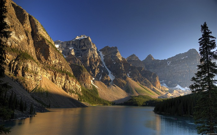 Banff Moraine Lake Sunset-Windows 10 HD Wallpaper Views:11606
