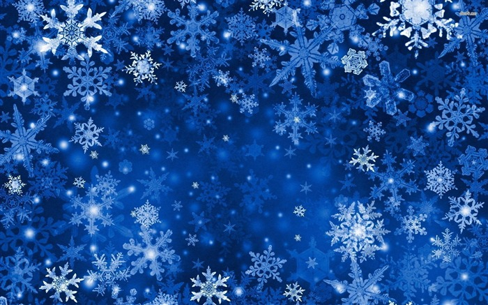 Blue Snowflakes-High Quality Wallpaper Views:2472
