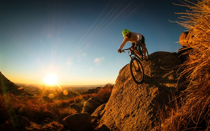 Extreme mountain biking Sports HD Wallpaper Views:19994