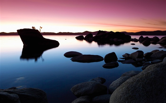 bonsai rock sunset-Nature wallpaper Views:5153 Date:12/12/2014 11:15:41 PM