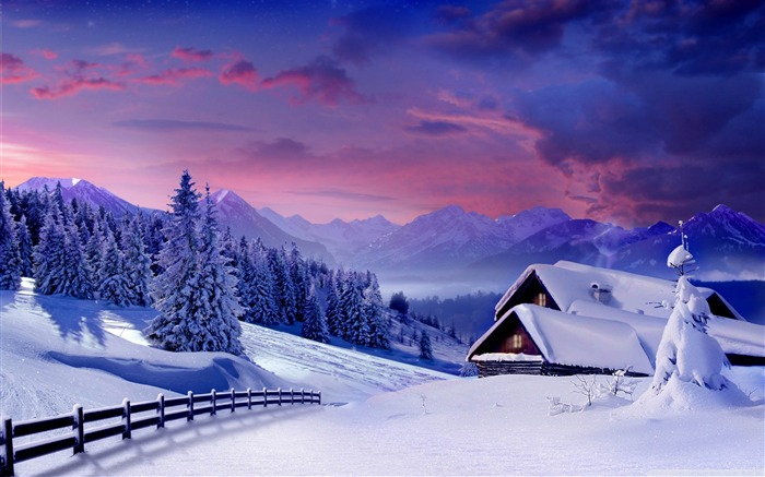 houses under snow-Nature wallpaper Views:11105 Date:12/12/2014 11:13:11 PM
