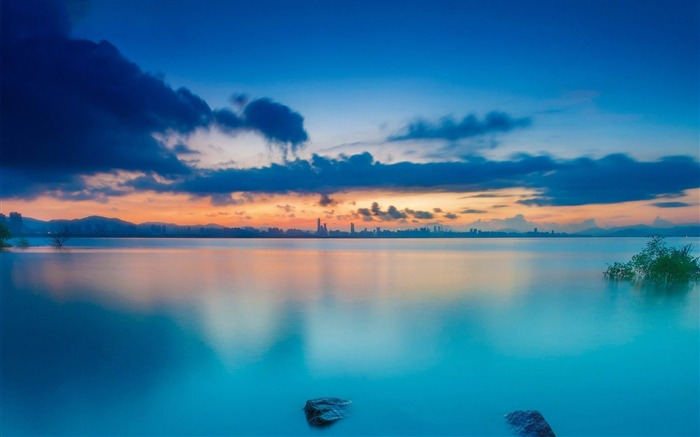 sunset waters-Nature wallpaper Views:3916 Date:12/12/2014 11:49:01 PM