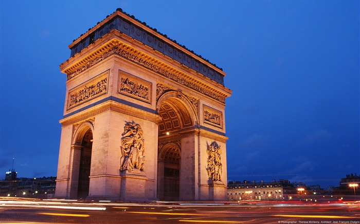 Arc de Triomphe Paris France-Windows 10 HD Wallpaper Views:3667