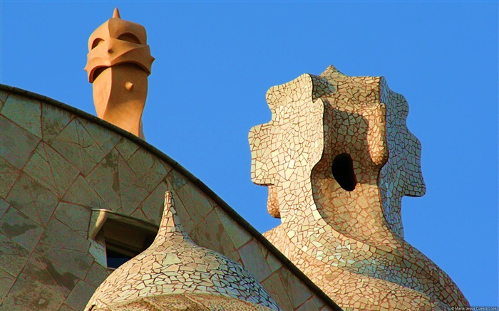 Barcelone Casa Mila-Windows 10 HD Wallpaper Views:3980