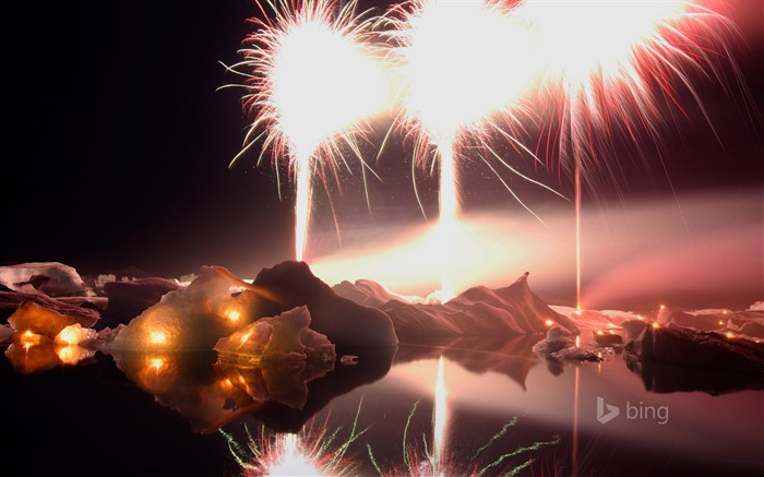 Dazzling fireworks-Bing theme wallpaper Views:1594