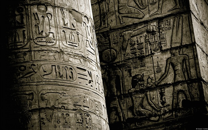 Egyptian Karnak carving-Windows 10 HD Wallpaper Views:4056