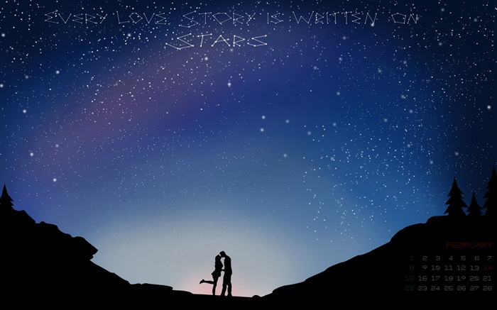 Every Love Story Stars-February 2015 Calendar Wallpaper Views:3979