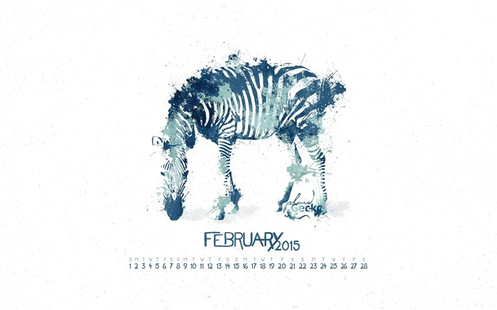 Malie-February 2015 Calendar Wallpaper Views:2830