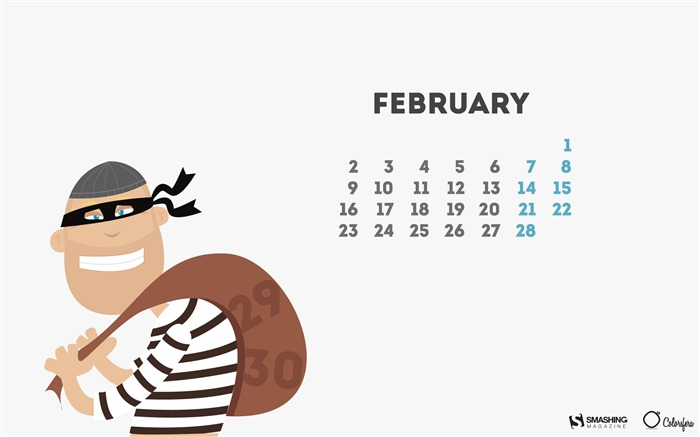 Time Thief-February 2015 Calendar Wallpaper Views:2164