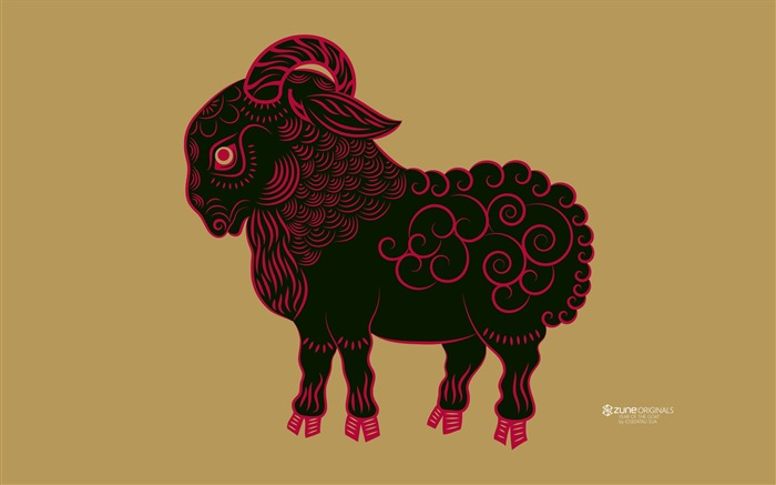 Zodiac Sheep-Windows 10 HD Wallpaper Views:1650