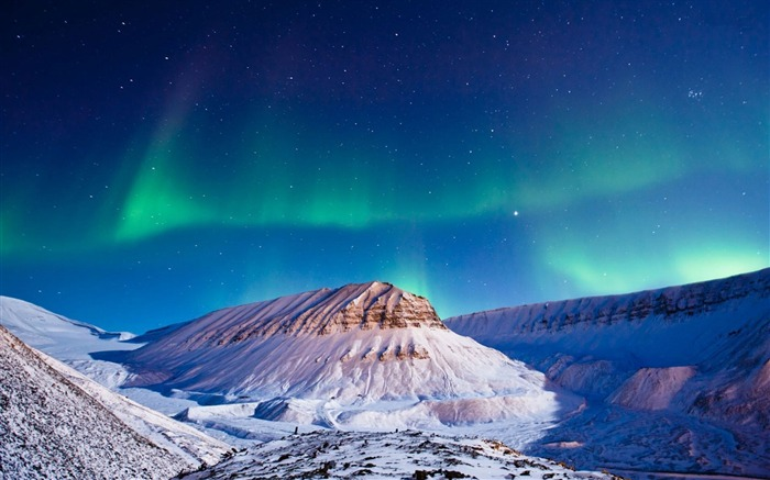 Cool Northern Lights-Landscapes HD Wallpaper Views:2679