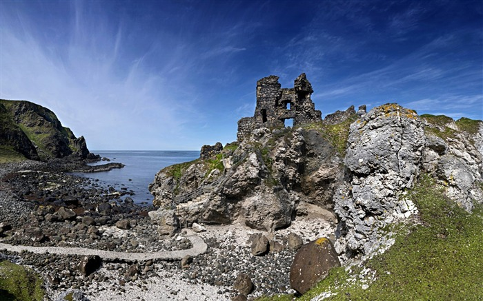 Kinbane Castle Ruins-Windows 10 HD Wallpaper Views:3194