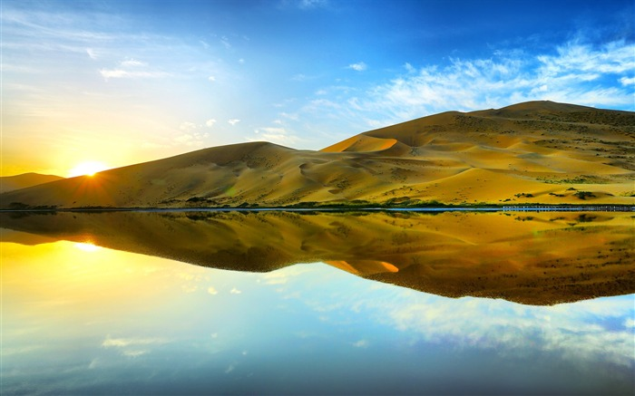 Sunrise Reflections-Landscapes HD Wallpaper Views:1253