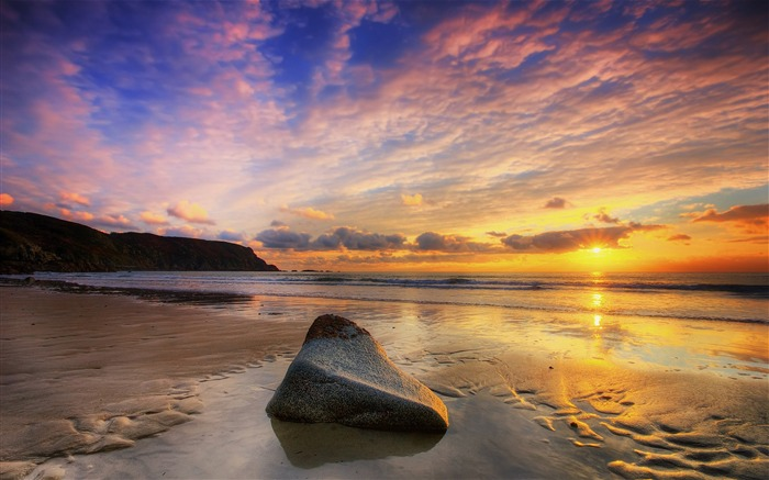 Beach Sunset-HD Scenery Wallpaper Views:3610