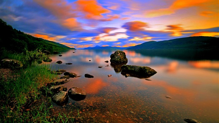 Beautiful Sunset Reflection-HD Scenery Wallpaper Views:3118