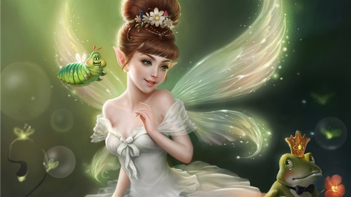 Picture Of Fairy-Cartoon HD wallpaper Views:2814