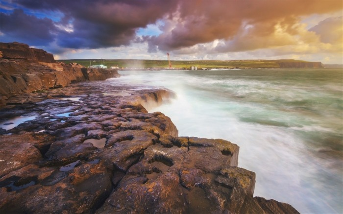 doolin bay ireland-HD Scenery Wallpaper Views:2872