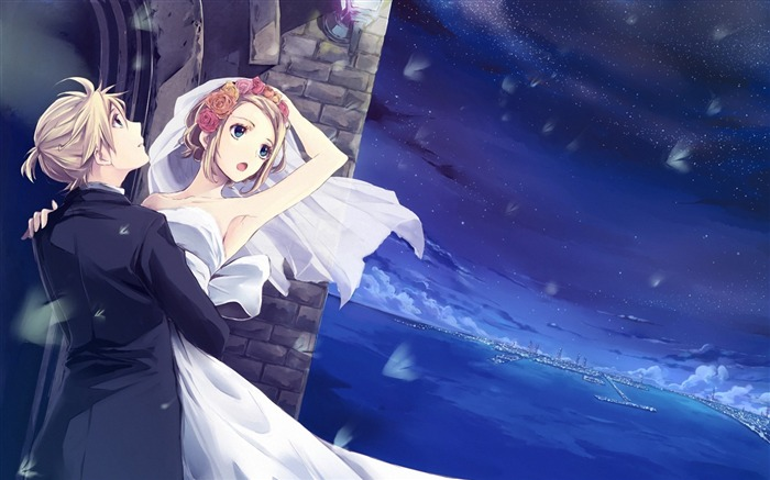 girl bride wedding-Cartoon HD wallpaper Views:3214