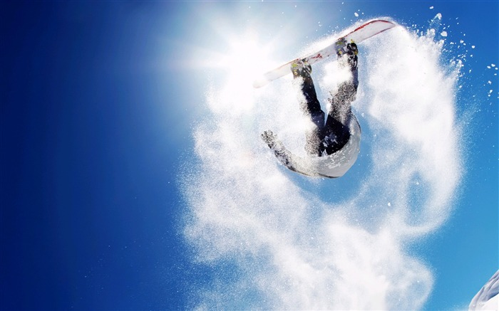 Amazing snowboarding extreme sports wallpaper 02 Views:3057