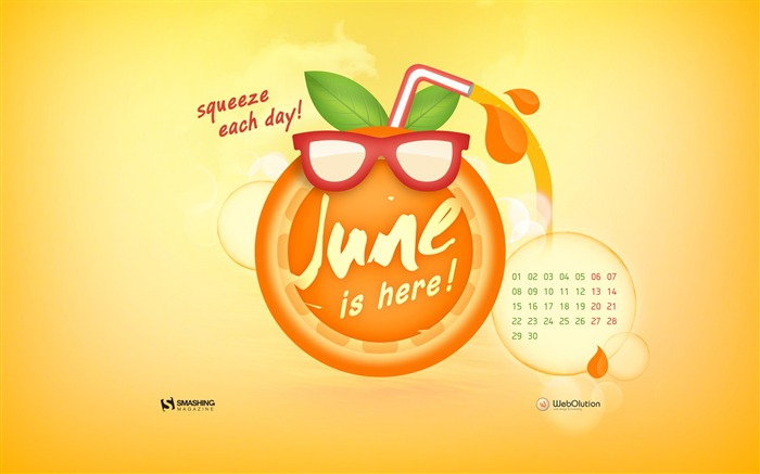 June 2015 Calendar Desktop Themes Wallpaper Views:10724