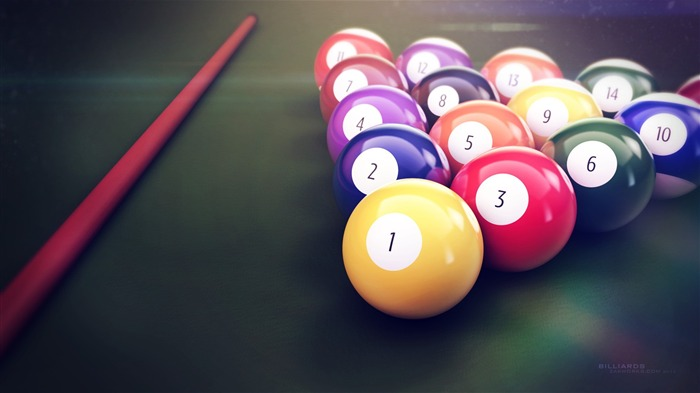 Colorful Billiards Table-High Quality HD Wallpaper Views:1641