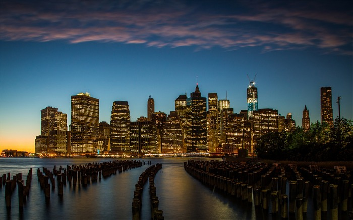 New York downtown-Cities HD Wallpapers Views:2073