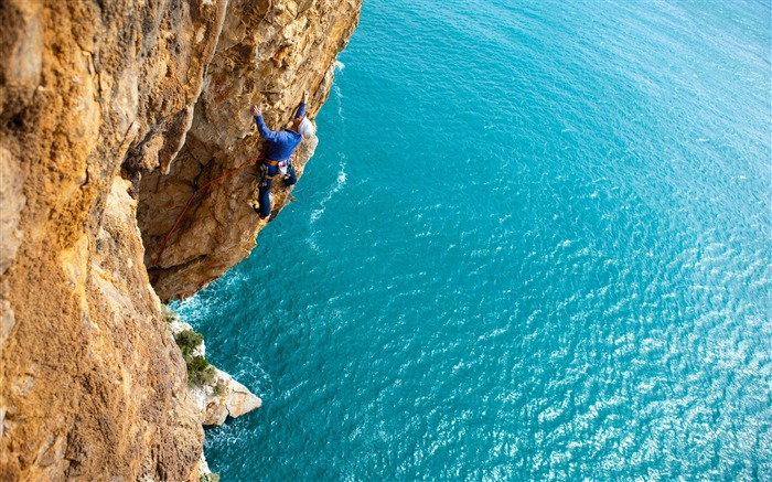 climbing sport ocean-High Quality HD Wallpaper Views:2483
