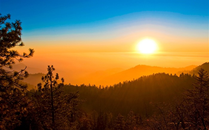 Morning sunrise-iMac System Scenery HD Wallpaper Views:2254