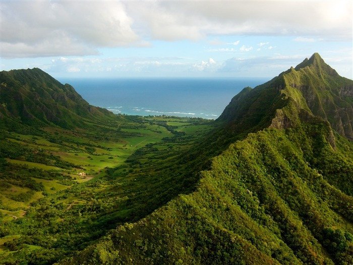 oahu valley-Nature HD Wallpaper Views:1820
