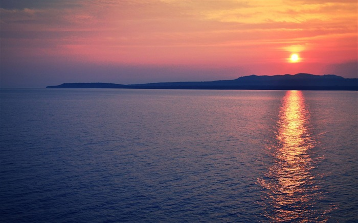 sea sunset horizon-Nature HD Wallpaper Views:1507