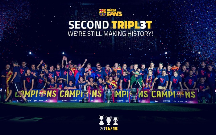 FC Barcelona Football Club 2015 HD Wallpaper Views:23240