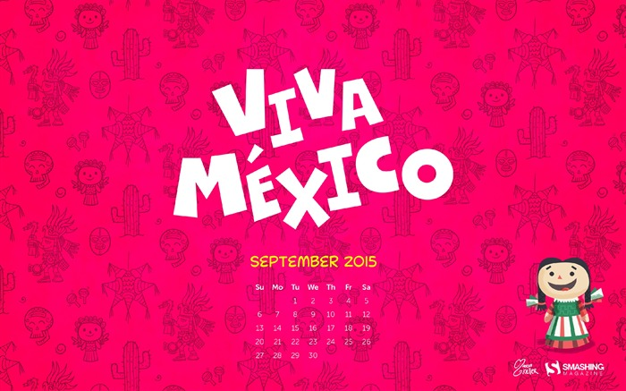 September 2015 calendar desktop themes wallpaper Views:7676