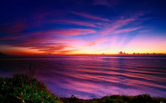 colorful horizon sunsets-Landscape wallpaper Views:2096