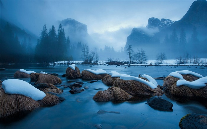 merced river-Landscape wallpaper Views:2646