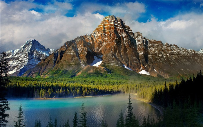 mountains lake nature-Scenery HD Wallpapers Views:1513