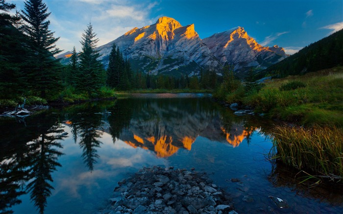 mountains sky reflection-Scenery HD Wallpapers Views:3346