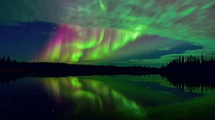 northern lights and stars-Nature HD Wallpapers Views:1846