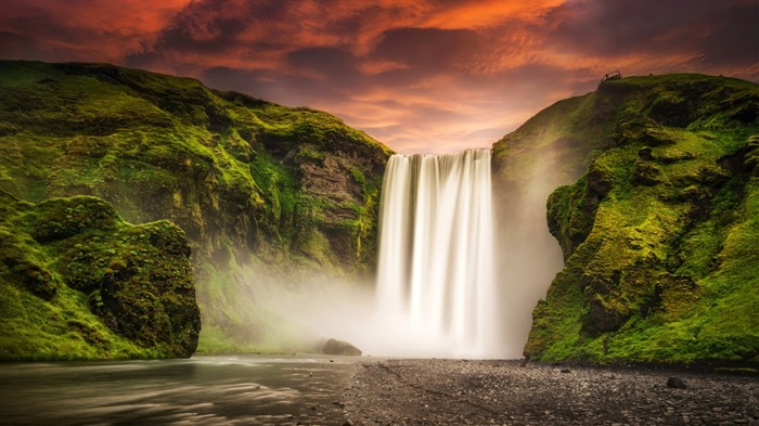 skogafoss waterfall iceland-Nature Wallpaper Views:2135
