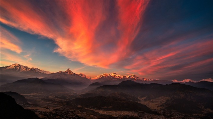 sunrise valley Tibet mountains-Nature Wallpaper Views:1685