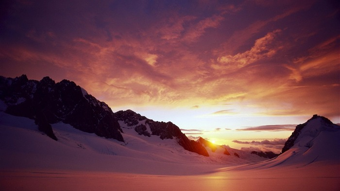 sunset from ice mountain-Landscape wallpaper Views:1327