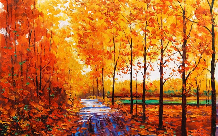 Fall painting-HD Nature Wallpaper Views:2915