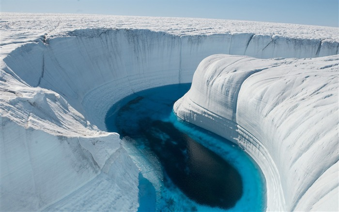 ice canyon greenland-High Quality Wallpaper Views:1848