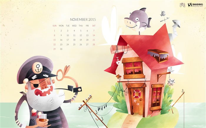 November 2015 Calendar Desktop Themes Wallpaper Views:5586