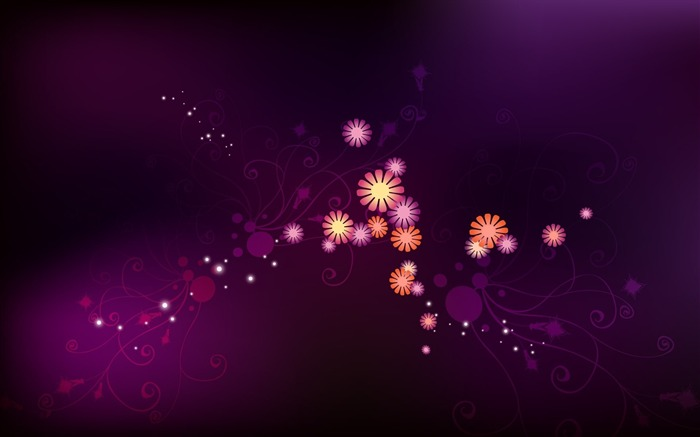 abstract shining flowers-Design HD Wallpaper Views:1351