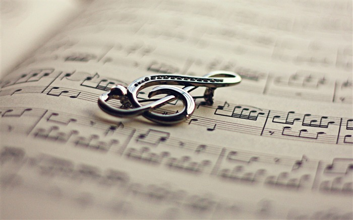 treble clef notes-Music HD Wallpaper Views:3234
