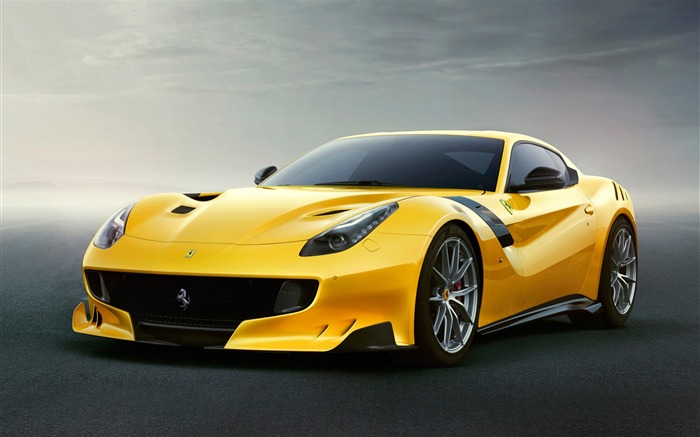 2016 Ferrari F12tdf Yellow Auto HD Wallpaper Views:4407