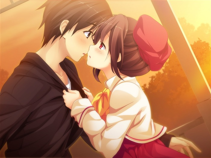 Couple kiss sunset-2015 Anime Wallpaper Views:4037