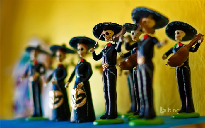 Day of the Dead calaca figurines-November 2015 Bing Wallpaper Views:1135
