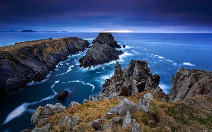 Donegal ireland sea stones-scenery HD Wallpaper Views:2511